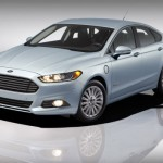 2013 Fusion Energi rendering with headlights on