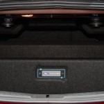 2013 Ford Fusion Energi trunk space with seats upright