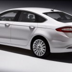 2013 Ford Fusion Energi rendering in white
