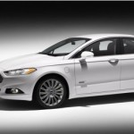 2013 Ford Fusion Energi side view rendering